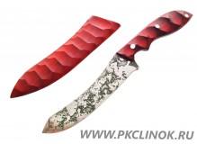 """Нож """"Кондрат"""" удлиненный с деревянными ножнами"""